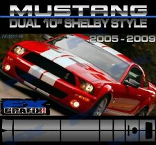 "2008 Ford Mustang Dual 10"" GT 500 Rally Kit #1 in Dealer Quality Stripes"