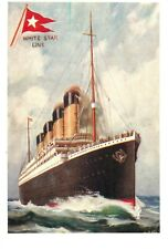 White Star Line R.M.S. Titanic at sea Mayfair post card