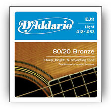 5 X D'Addario EJ11 80/20 Bronze Light Gauge Acoustic Guitar Strings 12 - 53