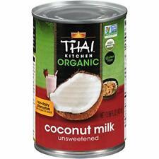 Thai Kitchen Organic Unsweetened Coconut Milk 13.66 Fl Oz Pack of 6