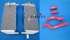 For YAMAHA YZ250 1996-2001 97 98 99 00 01 Aluminum Radiator & silicone hose RED