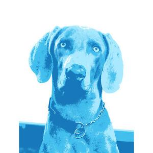 Weimaraner Blue Dog Large Canvas Wall Art Print