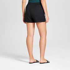 Women's Easy Waist Twill Black Shorts