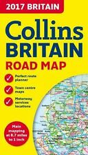 2017 Collins Map of Britain Collins Maps VeryGood