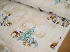 QUILTING TREASURES TISSU PATCHWORK, pour Noel, bonhomme et animaux de la forêt
