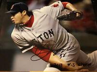 JUNICHI TAZAWA SIGNED 8x10 PHOTO AUTO 2013 WS CHAMPS Boston Redsox IP