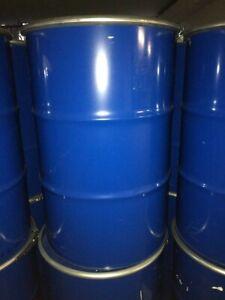 Metallfass 200L mit Deckel Blechfass Stahlfass Ölfass Feuertonne Fass 200 Liter