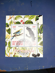 chad minisheet mini sheet birds 2010 #2