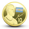 Lionel Messi Argentina Barcelona Football Soccer Super Stars Gold Plated Coin