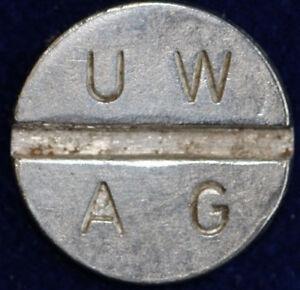 old German Token UWAG  alte Automatenmünze Spielautomatenmünze