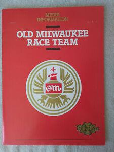 1983 TIM RICHMOND Old Milwaukee Racing Team Media Information Kit