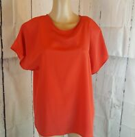 Christie & Jill Women's Blouse Vintage Red Size Large Shoulder Pads