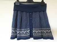 Fat Face Abstract Button Down Skirt Size 12