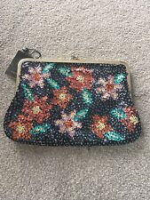 Beautiful Mango MNG Heavily Beaded Sequinned Multicoloured handbag New Rrp €40
