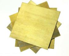 Brass Plate Metal Cut Sheet 0508112152253mm Thick Various Sizes