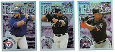 Lot of 3 2016 Topps Finest Intimidators Frank Thomas, Stanton, Fielder