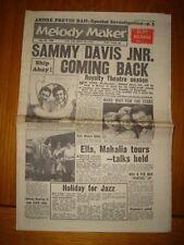 MELODY MAKER 1960 JUL 30 SAMMY DAVIS JNR CLIFF RICHARD