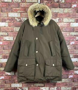 Woolrich Arctic Parka Down Filled Mens Winter Hooded Jacket / Coat XL / 2XL J655
