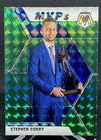 Stephen Curry 2019-20 Panini Mosaic Green MVP #299 Golden State Warriors