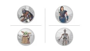 THE MANDALORIAN SET (Star Wars) 1 oz Colored Silver Proof Coin NZ MINT (4 Coins)