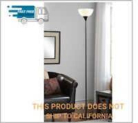 71 Inch Floor Lamp 150W Living Room Light Stand Scoop Shade Read Torchiere,Black