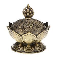 Lotus Incense Smoke Cone Aroma Burner Holder Stove Backflow Censer Decor-Br S1S1