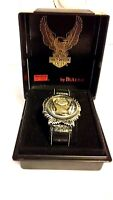 Harley Davidson bulova watch 96014 RARE EAGLE NOS w/box gift collectible running