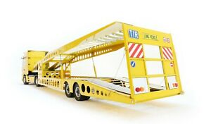 MNtrailers Yellow TLML MNT28 Trailer TRANSPORTER 1:18 for MERCEDES, SCANIA, MAN