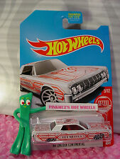 2017 Hot Wheels '64 LINCOLN CONTINENTAL✰white ✰Target Exclusive RED EDITION 5/12