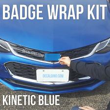Kinetic Blue Car Emblem Wrap Kit - Chevy Cruze Sonic Colormatch BowTie Badge 3M