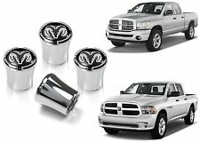 4 Pack Chrome RAM Logo Valve Stem Caps Wheel Tire Custom Mod New Free Shipping