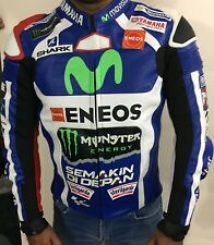 Yamaha Movistar Motogp Jorge Lorenzo Motorbike Racing Genuine Leather Jacket