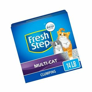 Fresh Step Scented Litter with The Power of Febreze, Clumping Cat Litter 14 lb