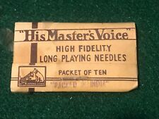 "HIS MASTER'S VOICE Victrola TEN NEEDLES PACK "" MADE IN ENGLAND -NOS"
