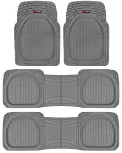 Motor Trend FlexTough Deep Dish Heavy Duty Rubber Car Floor Mats - 4 PC