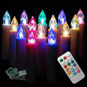 Weihnachtskerzen 30x Kabellose LED Weihnachtsbaumbeleuchtung Lichterkette RGB