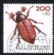 GERMANIA 1 FRANCOBOLLO PRO GIOVENTU INSETTI MELOLONTHA 1993 usato