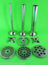 #12 9 pc COMBO Set Meat Grinder Sausage Stuffer plate knife tubes LEM Hobart etc