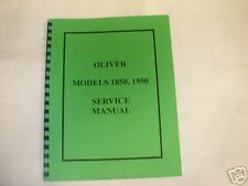 Oliver Models 1850 and 1950 Tractor Service Manual - NEW FREE SHIPPING
