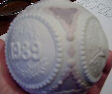"Lladro Christmas 1989 ball BIRDs pink lavendar 3"" diameter 4"" tall NEW in BOX NR"