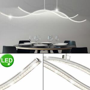 LED Hänge Lampe Flur Kristall Ring Kronleuchter Glas Stäbe Decken Leuchte DIMMER