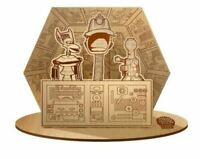 NEW MYSTERY SCIENCE THEATER 3000 LIVE - SIGNED WOOD 3 PIECE SET DIORAMA *RARE*