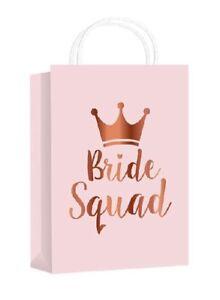 ***Classy BRIDE SQUAD**10 Pack**Gift Favour Bag**Vintage Rose Gold***pink***