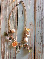 Boho Seashell Abalone Feather Leather Necklace