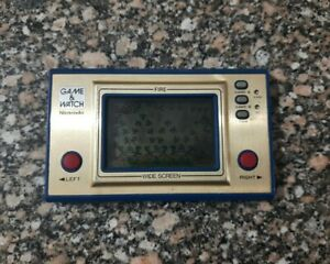 Nintendo Game & Watch Fire Wide Screen Edition FR-27 Vintage 1981 working
