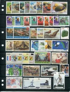 Collection of stamps from Zaire ~450 stamps