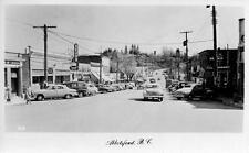 Photo. 1950-1. Abbotsford, BC, Canada. Essendene Ave - autos
