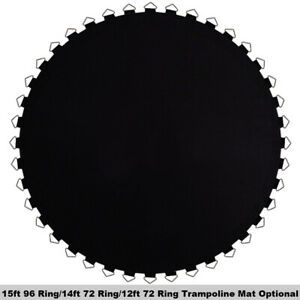 """12ft/ 14ft/ 15ft Trampoline Replacemet Mat with 72/96Ring fits 5.5/ 6.5"""" Springs"""