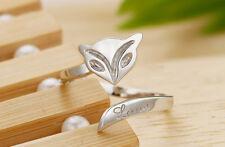 Fox Rings - Silver - Adjustable (R30)