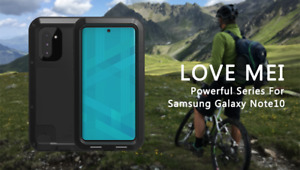 LOVE MEI Water/Dust/Shockproof Armor Metal Case for Samsung Note 10+ 9 8 S10 S9